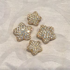 Monet Sparkly stars pin set